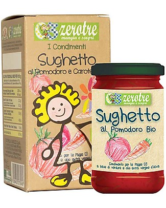Zero Tre Organic Tomatos and Carrots Sauce - 180gr Baby Cereal