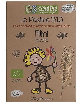 Zero Tre Organic Whole Wheat Filini - 250gr Baby Cereal