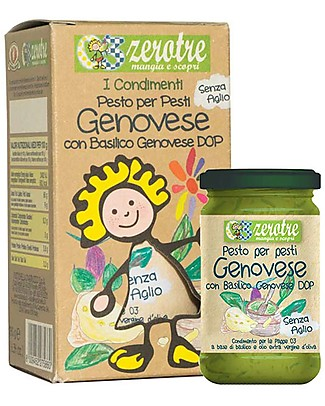 Zero Tre Pesto alla Genovese with Basil DOP, Without Garlic - 180gr Baby Cereal
