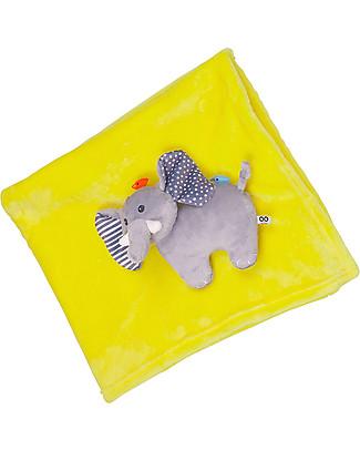 Zoocchini 2-in-1 Buddy Stroller Blanket, Elephant – Super soft pile, 69 x 100 cm Blankets
