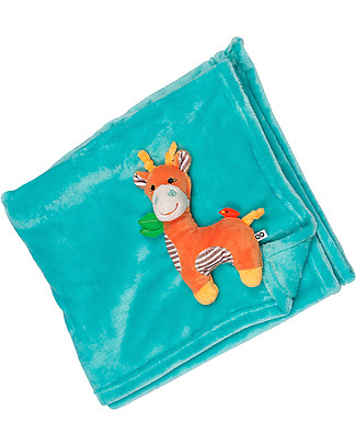 Zoocchini 2-in-1 Buddy Stroller Blanket, Giraffe – Super soft pile, 69 x 100 cm Blankets