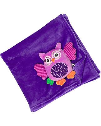 Zoocchini 2-in-1 Buddy Stroller Blanket, Owl – Super soft pile, 69 x 100 cm Blankets