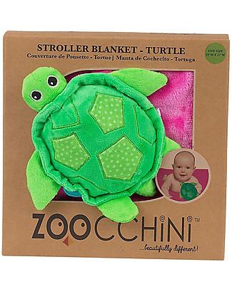 Zoocchini 2-in-1 Buddy Stroller Blanket, Turtle – Super soft pile, 69 x 100 cm Blankets
