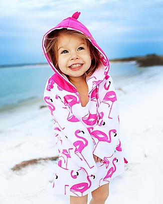 Zoocchini Baby Cover Up UPF 50+, Frenny il Fenicottero Towels And Flannels