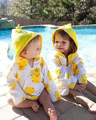 Zoocchini Baby Cover Up UPF 50+, Puddles l'Anatroccolo Towels And Flannels