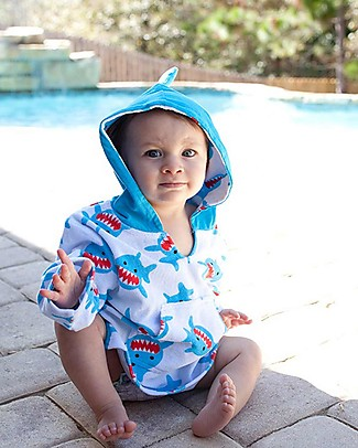 Zoocchini Baby Cover Up UPF 50+, Sherman the Shark Towels And Flannels