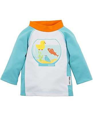 Zoocchini Baby Rash Guard UPF 50+, Fish Bowl Buddies Uv-Safe Sunsuits