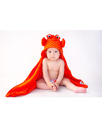 Zoocchini Baby Towel with Hood, Charlie the Crab - 100% cotton Towels And Flannels