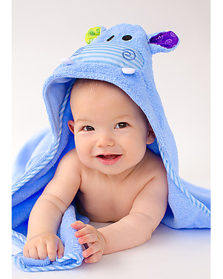 Zoocchini Baby Towel with Hood, Henry the Hippo - 100% cotton Towels And Flannels