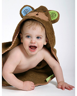 Zoocchini Baby Towel with Hood, Max the Monkey - 100% cotton Towels And Flannels