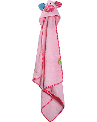 Zoocchini Baby Towel with Hood, Pinky the Piglet - 100% cotton Towels And Flannels