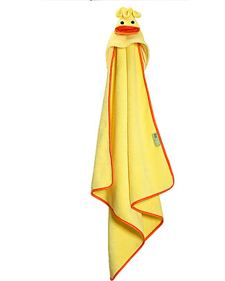 Zoocchini Baby Towel with Hood, Puddles the Duck - 100% cotton Towels And Flannels