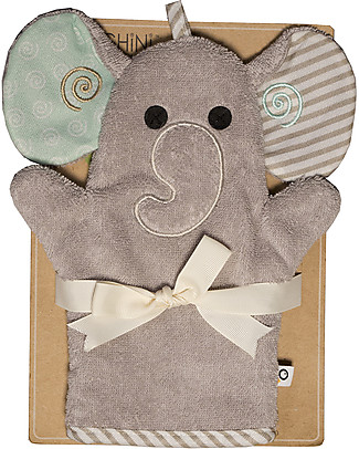 Zoocchini Bath Mitt, Ellie the Elephant - 100% cotton Towels And Flannels