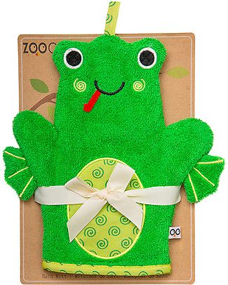 Zoocchini Bath Mitt, Flippy the Frog - 100% cotton Towels And Flannels