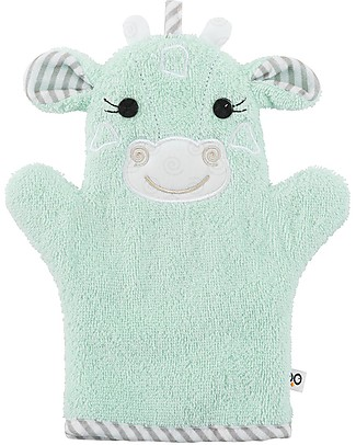 Zoocchini Bath Mitt, Jamie the Giraffe - 100% cotton Towels And Flannels