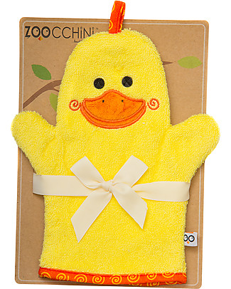 Zoocchini Bath Mitt, Puddles the Duck - 100% cotton Towels And Flannels