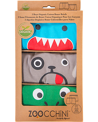 Zoocchini Boy Boxer Set of 3, Monster Mash - 100% organic cotton Training Pants