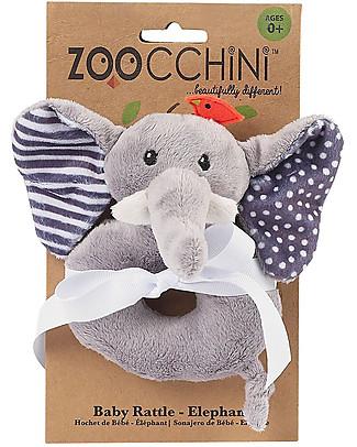 Zoocchini Buddy Rattles, Elephant - Velour Rattles