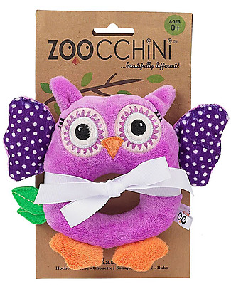 Zoocchini Buddy Rattles, Owl - Velour Rattles
