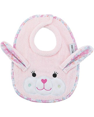 Zoocchini Dribble Bib, Beatrice la Coniglietta - 100% cotton Snap Bibs
