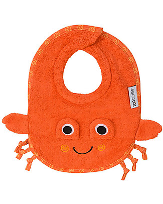 Zoocchini Dribble Bib, Charlie the Crab - 100% cotton Snap Bibs