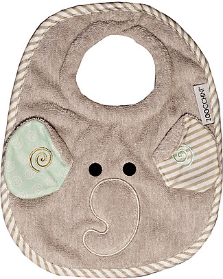Zoocchini Dribble Bib, Ellie the Elephant - 100% cotton Snap Bibs