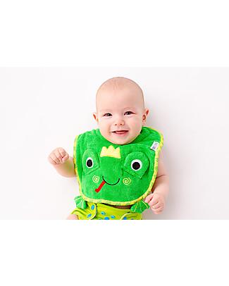 Zoocchini Dribble Bib, Flippy the Frog – 100% cotton Snap Bibs