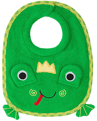 Zoocchini Dribble Bib, Flippy the Frog - 100% cotton Snap Bibs