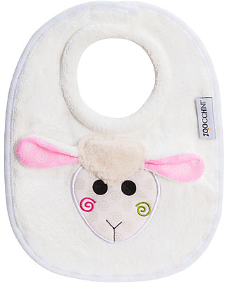 Zoocchini Dribble Bib, Lola the Lamb - 100% cotton Snap Bibs