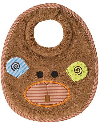 Zoocchini Dribble Bib, Max the Monkey – 100% cotton Snap Bibs