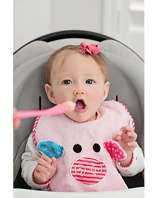 Zoocchini Dribble Bib, Pinky the Piglet – 100% cotton Snap Bibs