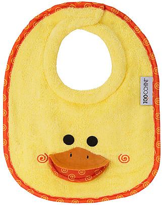 Zoocchini Dribble Bib, Puddles the Duck – 100% cotton Snap Bibs