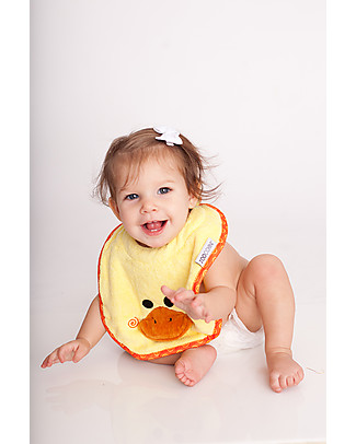 Zoocchini Dribble Bib, Puddles the Duck - 100% cotton Snap Bibs