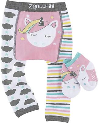 Zoocchini Grip+Easy Anti-slip Leggings & Socks Set - Allie the Unicorn null