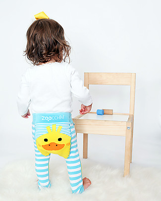 Zoocchini Grip+Easy Anti-slip Leggings & Socks Set - Puddles the Duck Leggings