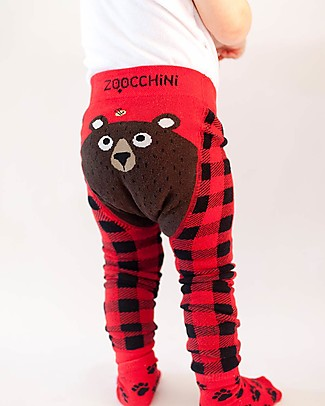 Zoocchini Grip+Easy Anti-slip Leggings & Socks Set - Bosley the Bear Leggings