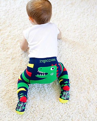 Zoocchini Grip+Easy Anti-slip Leggings & Socks Set - Devin the Dinosaur Leggings