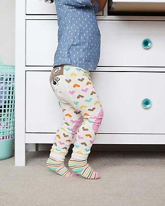 Zoocchini Grip+Easy Anti-slip Leggings & Socks Set - Fiona the Fawn Leggings