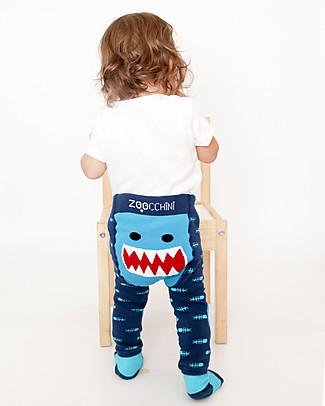 Zoocchini Grip+Easy Anti-slip Leggings & Socks Set - Sherman the Shark null