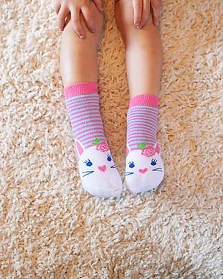 Zoocchini Grip+Easy Antislip Socks 3 Pack - Bella the Bunny Socks