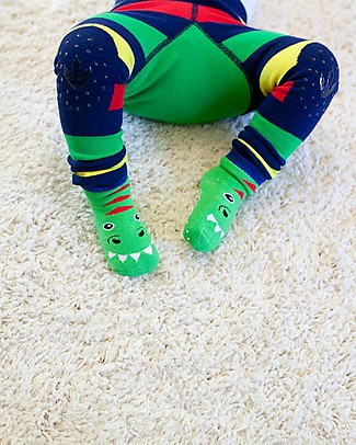 Zoocchini Grip+Easy Antislip Socks 3 Pack - Devin the Dinosaur Socks
