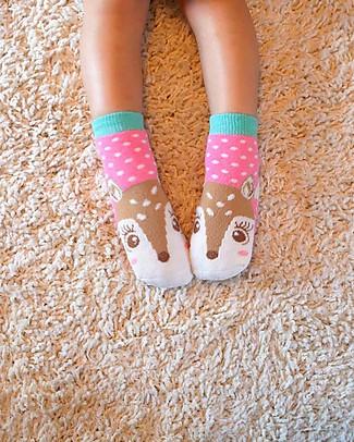Zoocchini Grip+Easy Antislip Socks 3 Pack - Fiona the Fawn Socks
