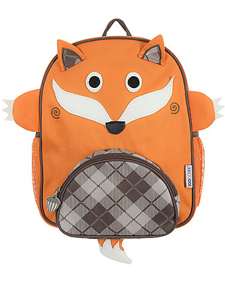 Zoocchini Kids Backpack Pals, Finley the Fox – 33 x 26.5 x 10 cm Small Backpacks