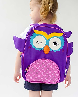Zoocchini Kids Backpack Pals, Olive the Owl - 33 x 26.5 x 10 cm Small Backpacks