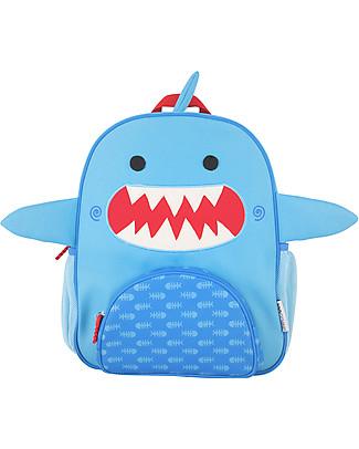 Zoocchini Kids Backpack Pals, Sherman the Shark - 33 x 26.5 x 10 cm null