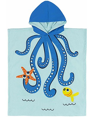 Zoocchini Kids Hooded Poncho, Owie the Octopus (2-6 years) Towels And Flannels