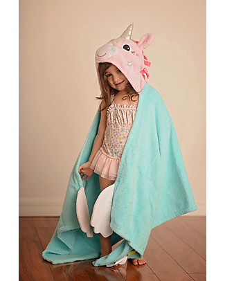 Zoocchini Kids Hooded Towel, Allie the Alicorn - 100% cotton Towels And Flannels