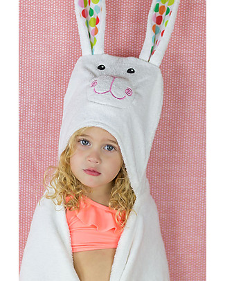 Zoocchini Kids Hooded Towel, Bella the Bunny - 100% cotton null