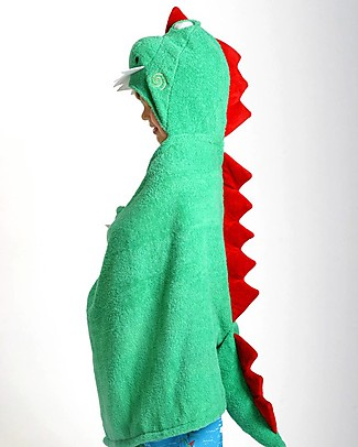 Zoocchini Kids Hooded Towel, Devin the Dinosaur - 100% cotton Towels And Flannels