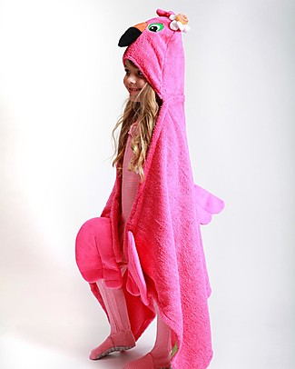 Zoocchini Kids Hooded Towel, Flamingo - 100% cotton Towels And Flannels